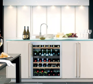 Wine cooler in the kitchen